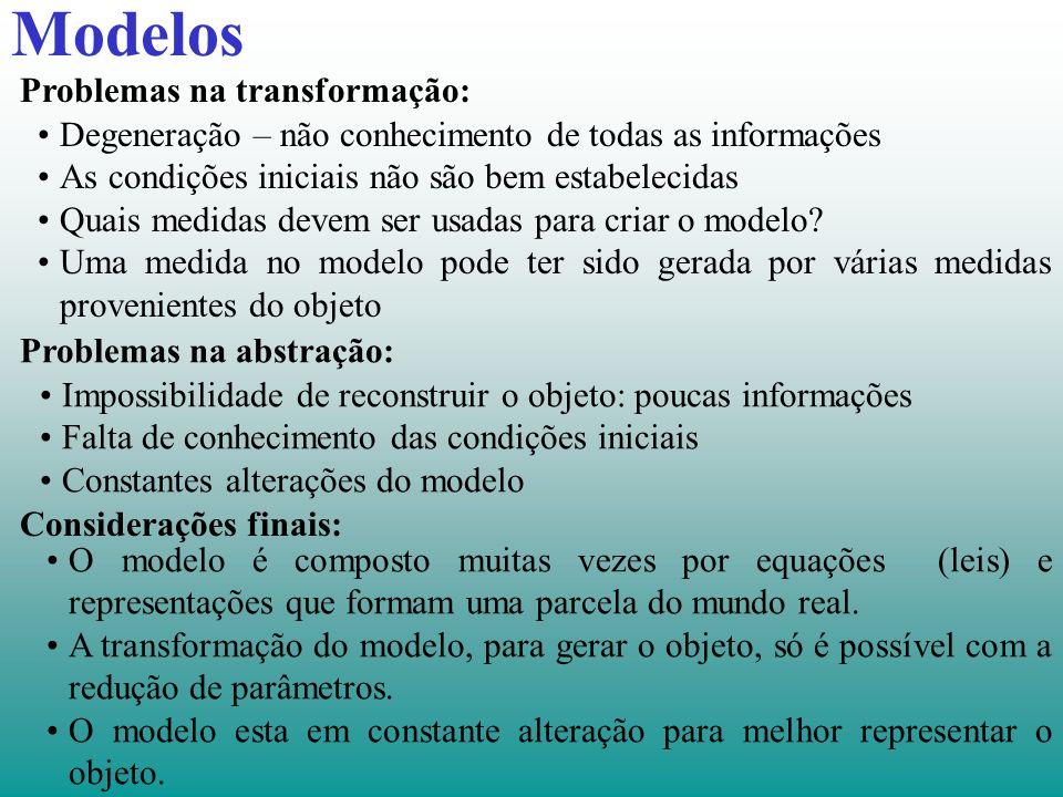 Modelos Problemas na transformação: