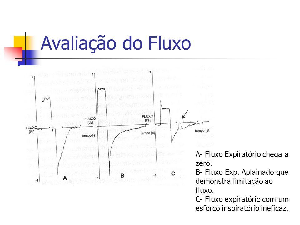 Avaliação do Fluxo A- Fluxo Expiratório chega a zero.