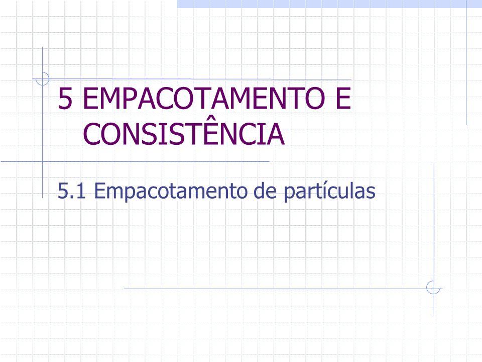 5 EMPACOTAMENTO E CONSISTÊNCIA