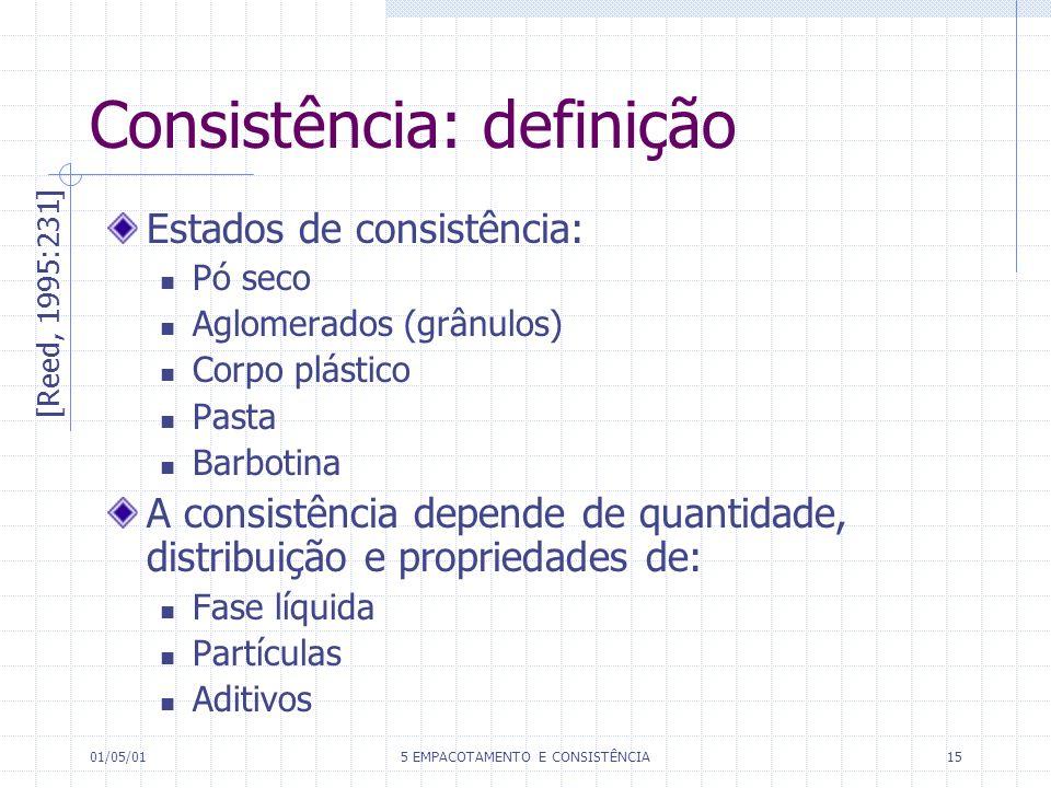 Consistência: definição