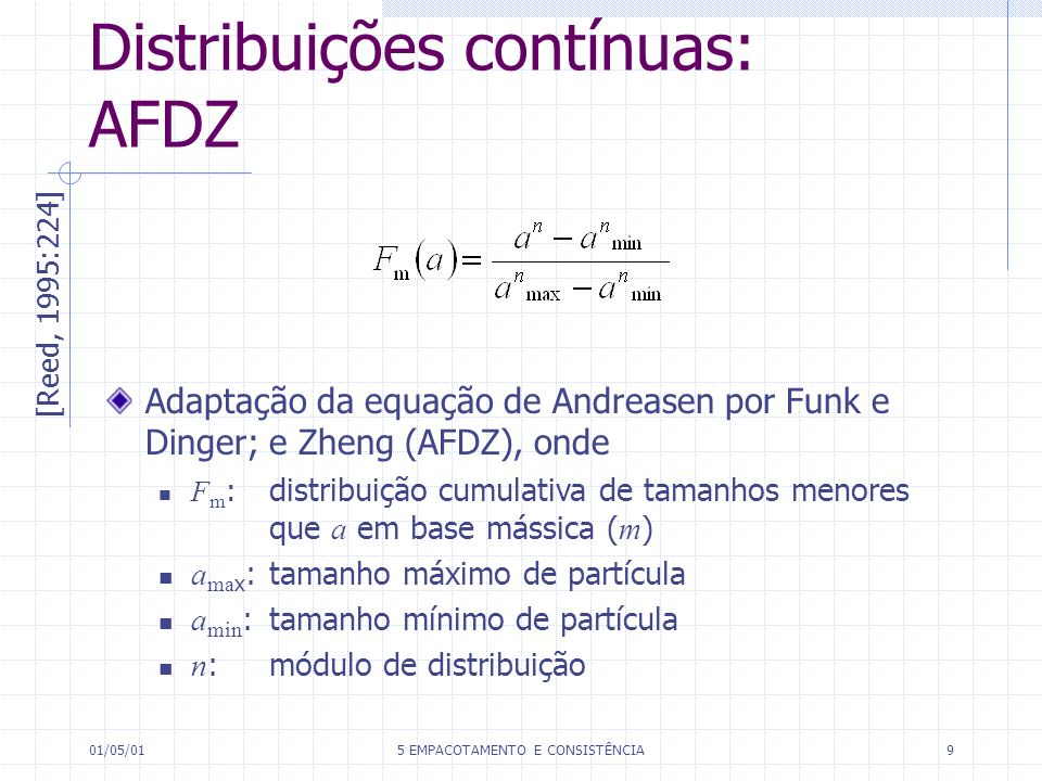 Distribuições contínuas: AFDZ