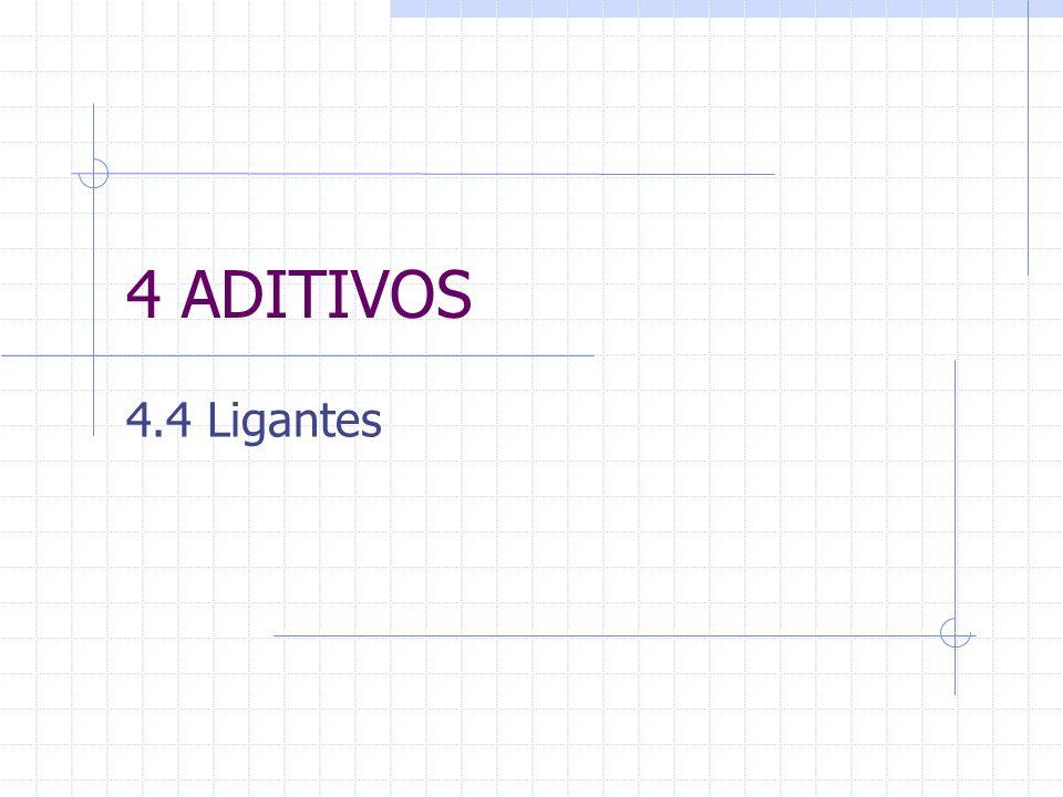 4 ADITIVOS 4.4 Ligantes