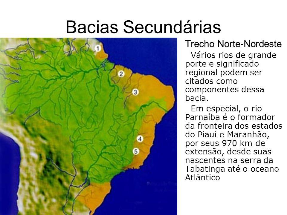 Bacias Secundárias Trecho Norte-Nordeste