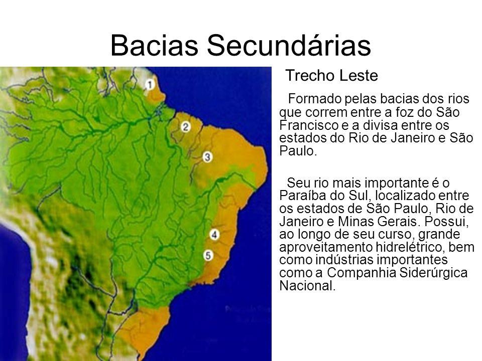 Bacias Secundárias Trecho Leste.