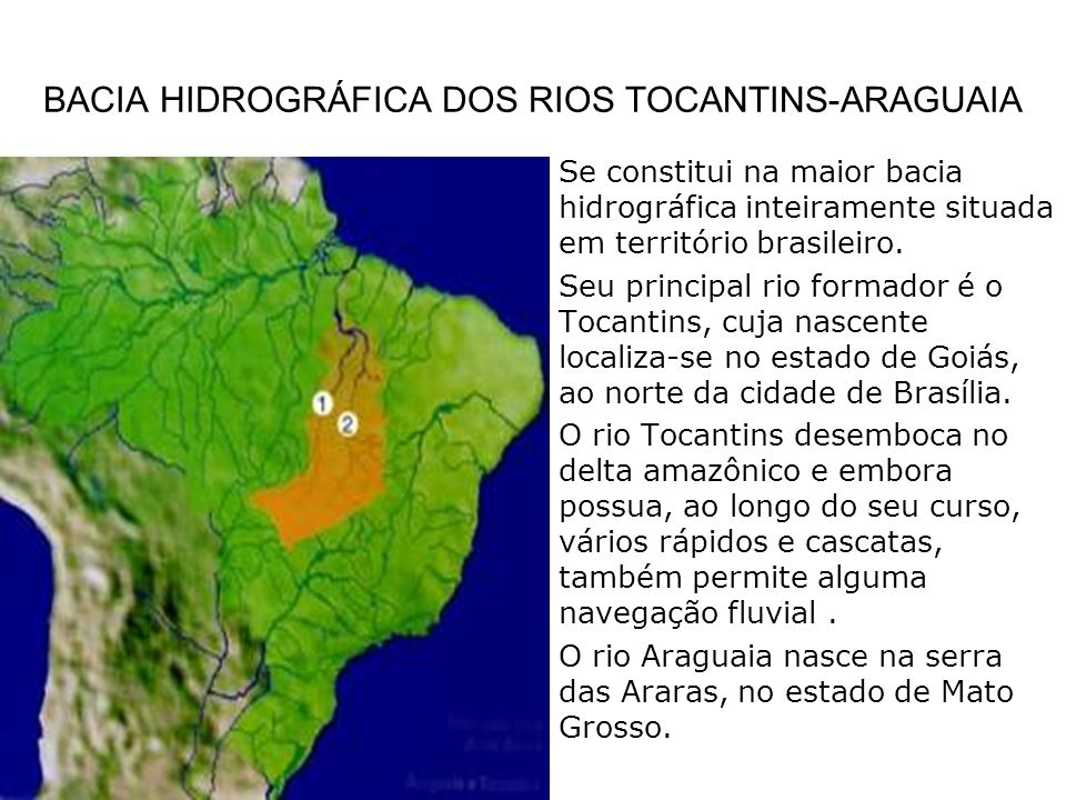 BACIA HIDROGRÁFICA DOS RIOS TOCANTINS-ARAGUAIA