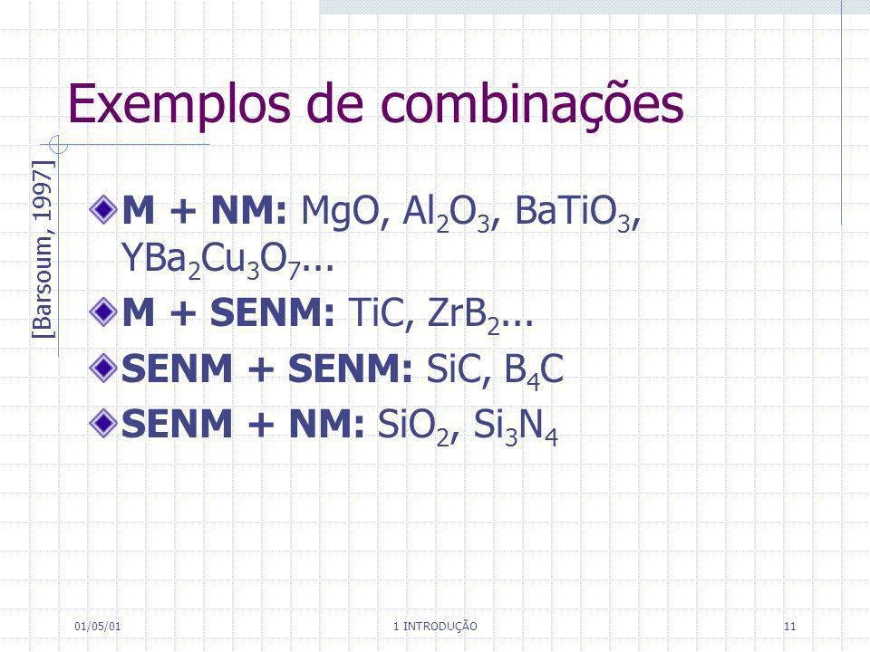 Exemplos de combinações