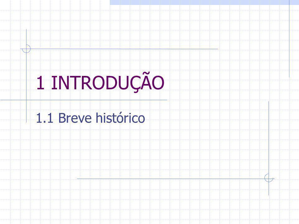 1 INTRODUÇÃO 1.1 Breve histórico