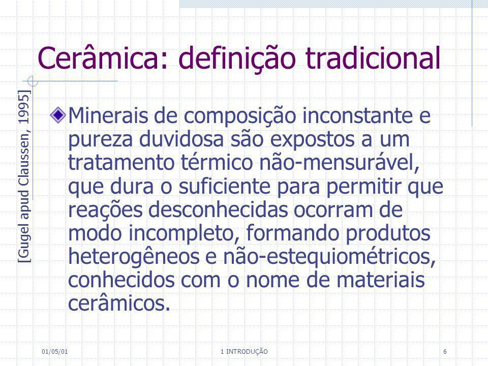 Cerâmica: definição tradicional