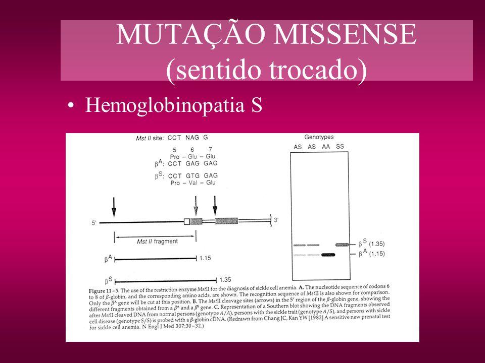 MUTAÇÃO MISSENSE (sentido trocado)