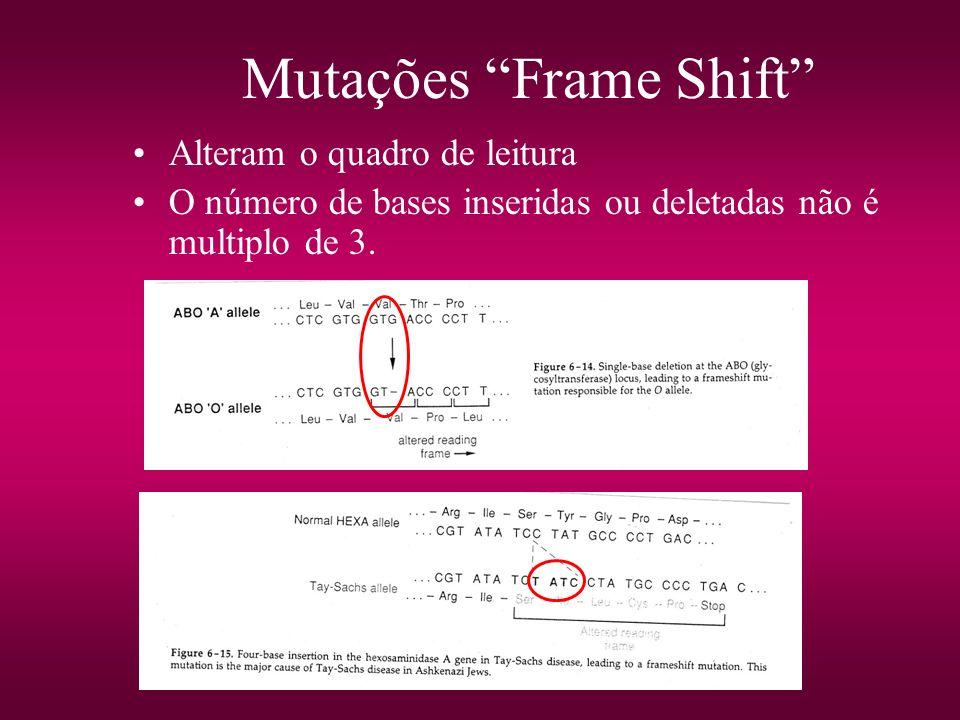 Mutações Frame Shift