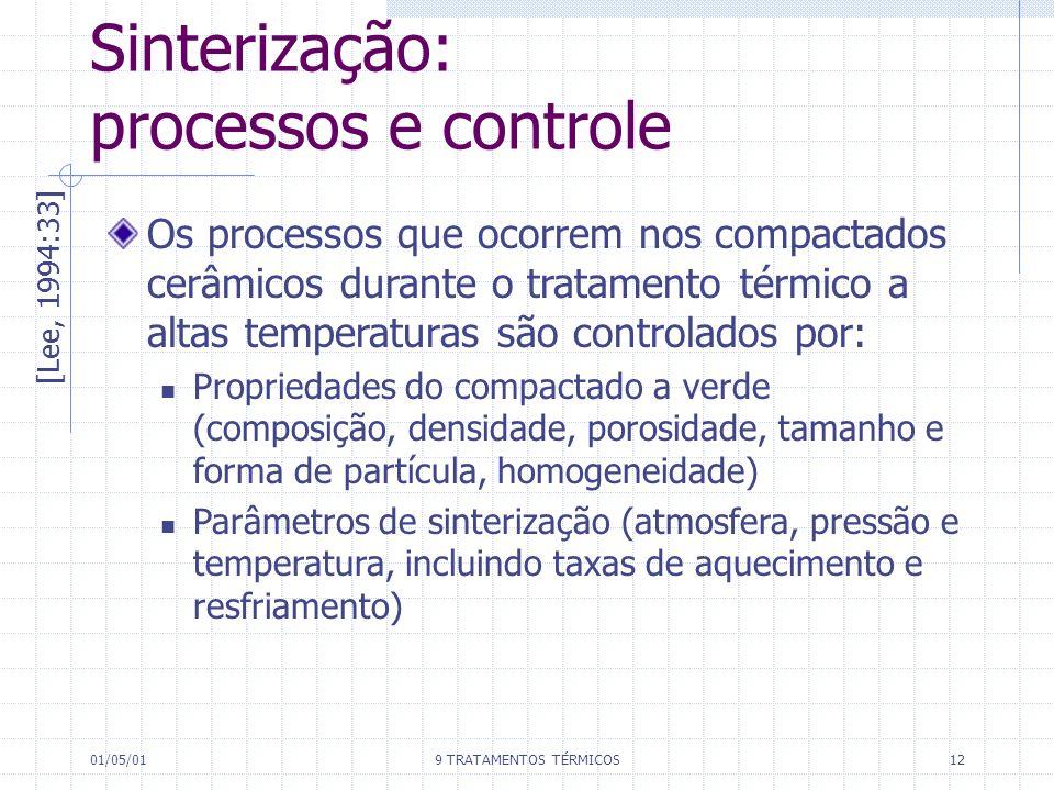 Sinterização: processos e controle