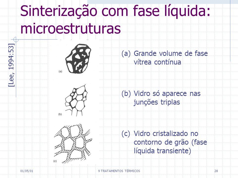 Sinterização com fase líquida: microestruturas