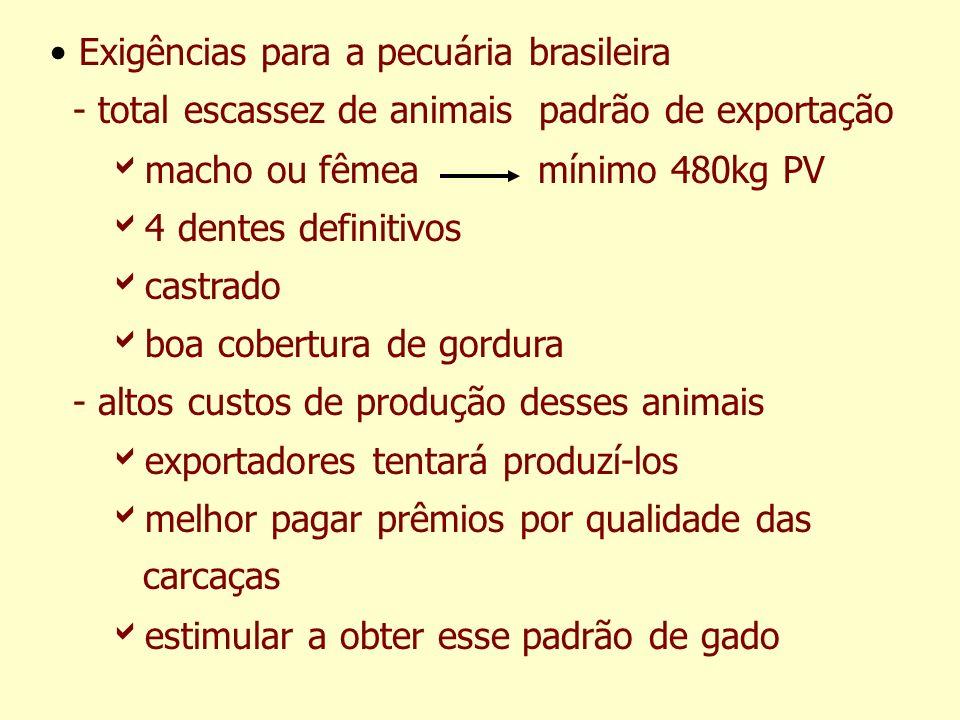 Exigências para a pecuária brasileira