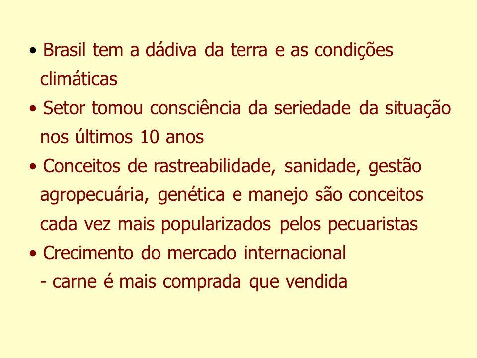 Brasil tem a dádiva da terra e as condições