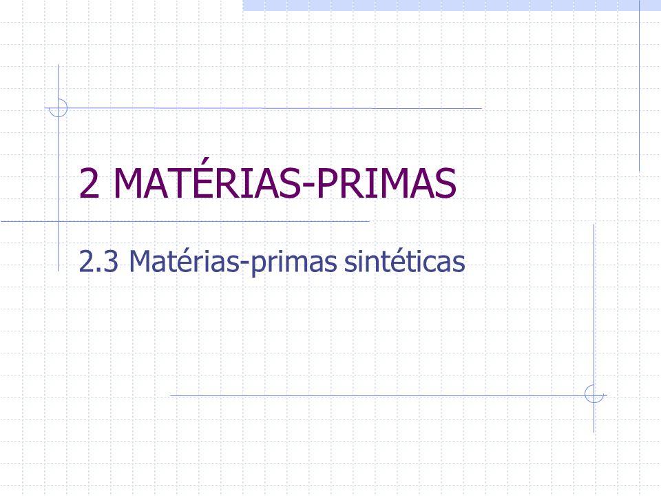 2.3 Matérias-primas sintéticas