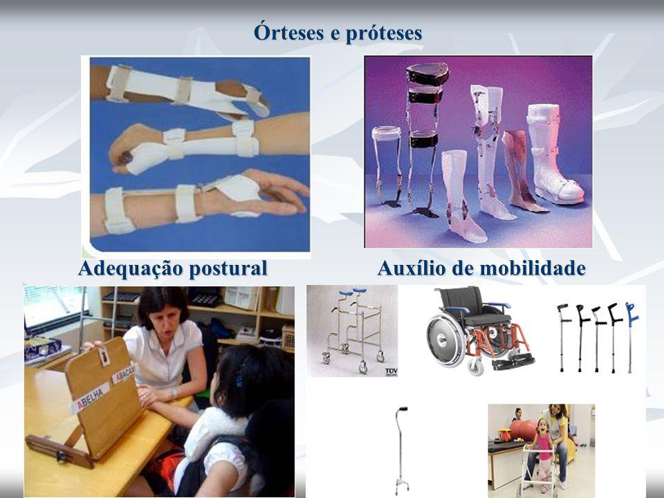Órteses e próteses Adequação postural Auxílio de mobilidade