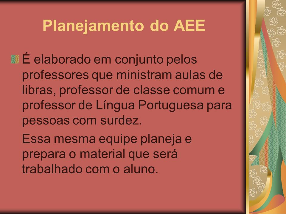 Planejamento do AEE