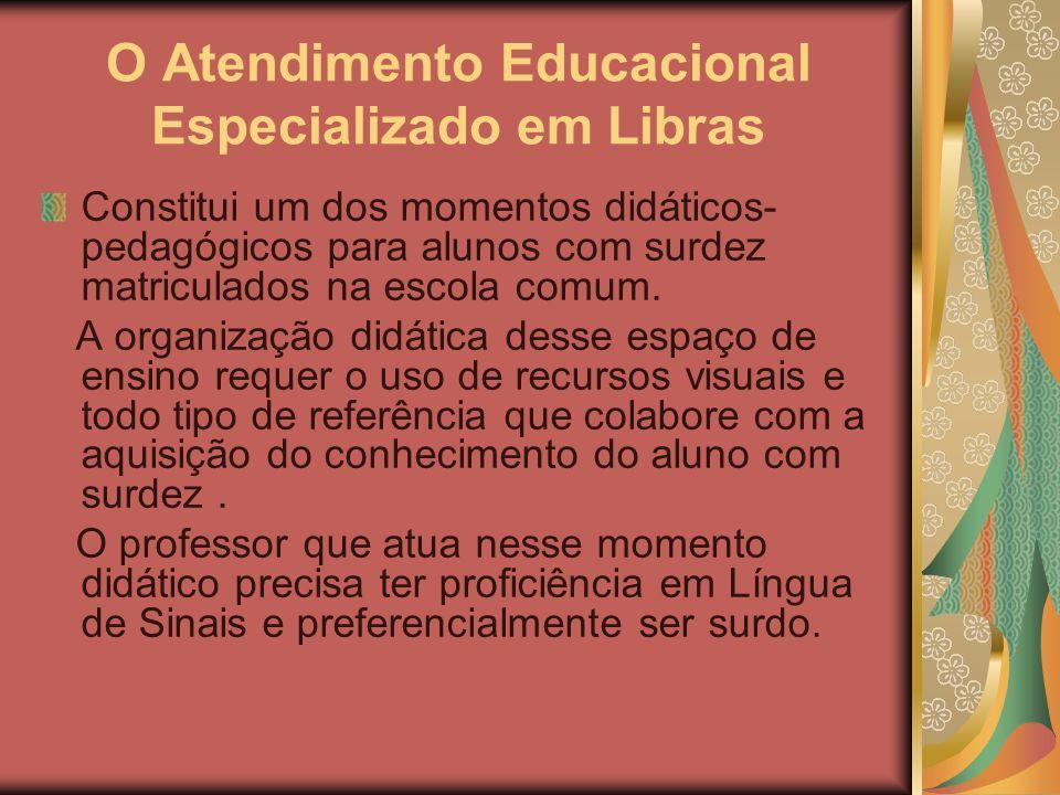 O Atendimento Educacional Especializado em Libras