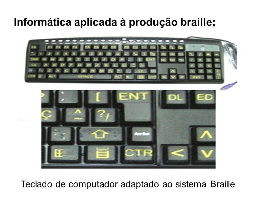 Teclado de computador adaptado ao sistema Braille