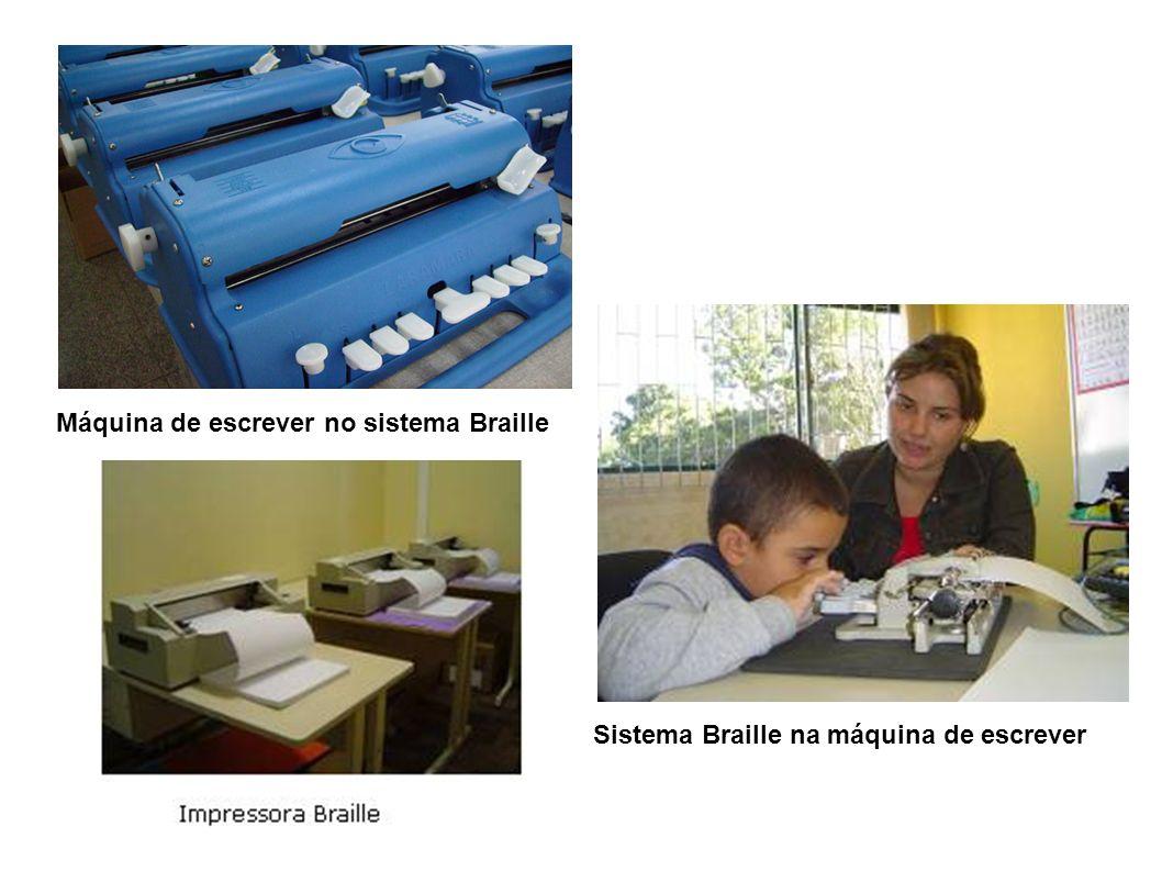 Máquina de escrever no sistema Braille