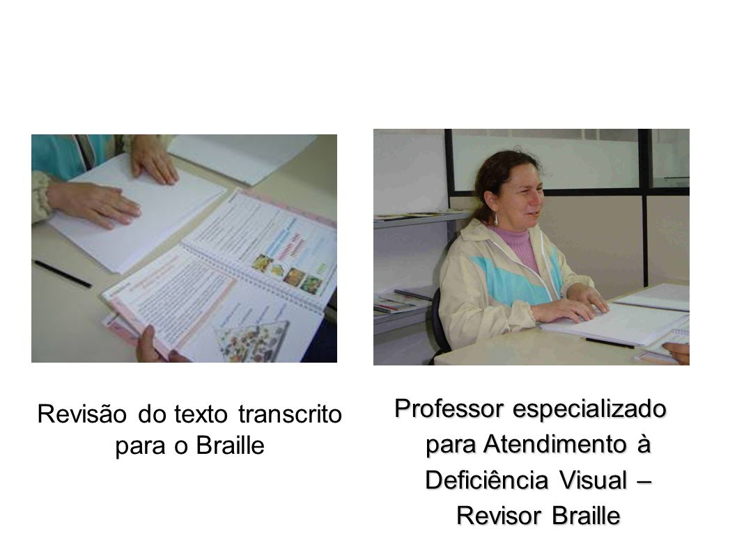 Revisão do texto transcrito para o Braille