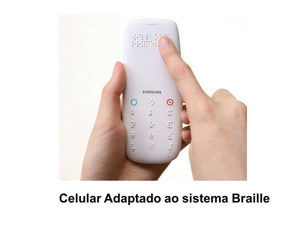 Celular Adaptado ao sistema Braille