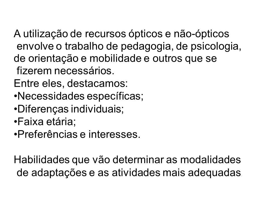 A utilização de recursos ópticos e não-ópticos
