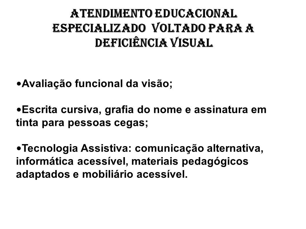 Atendimento Educacional Especializado voltado para a deficiência visual