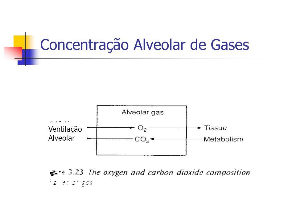 Concentração Alveolar de Gases