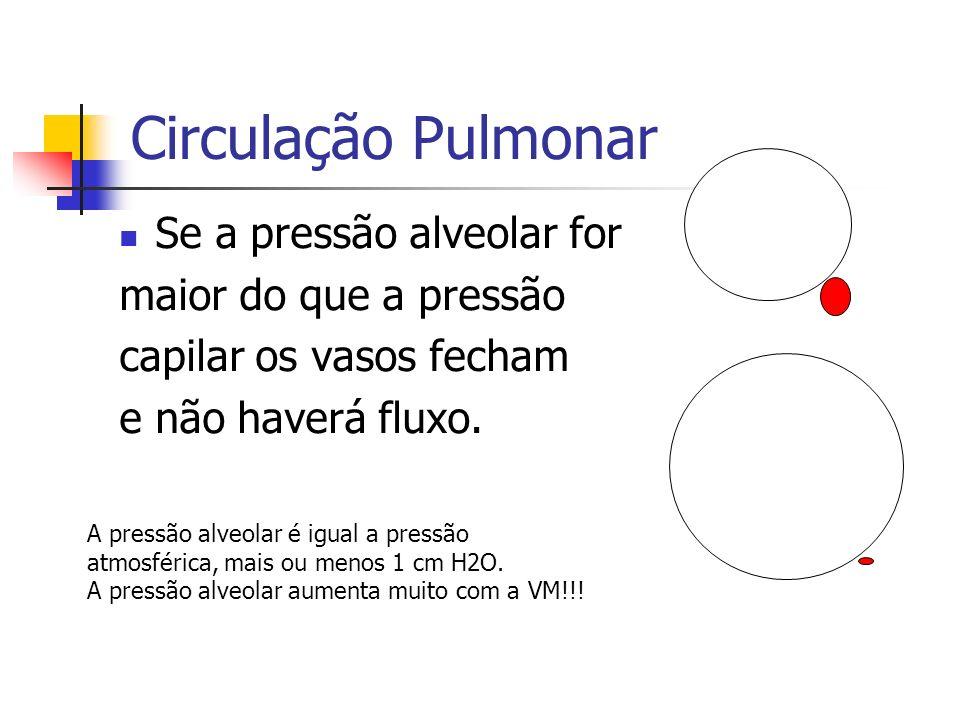 Circulação Pulmonar Se a pressão alveolar for maior do que a pressão