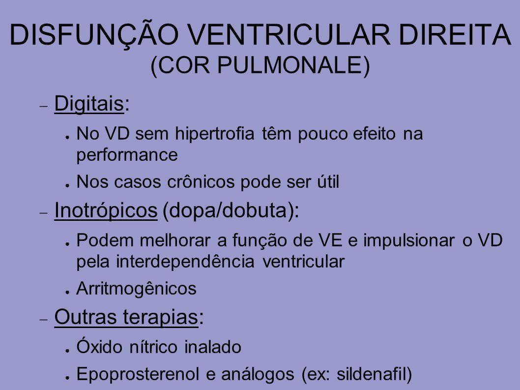 DISFUNÇÃO VENTRICULAR DIREITA (COR PULMONALE)