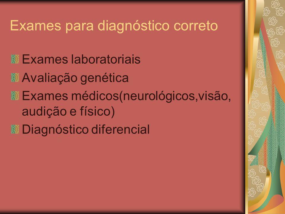 Exames para diagnóstico correto