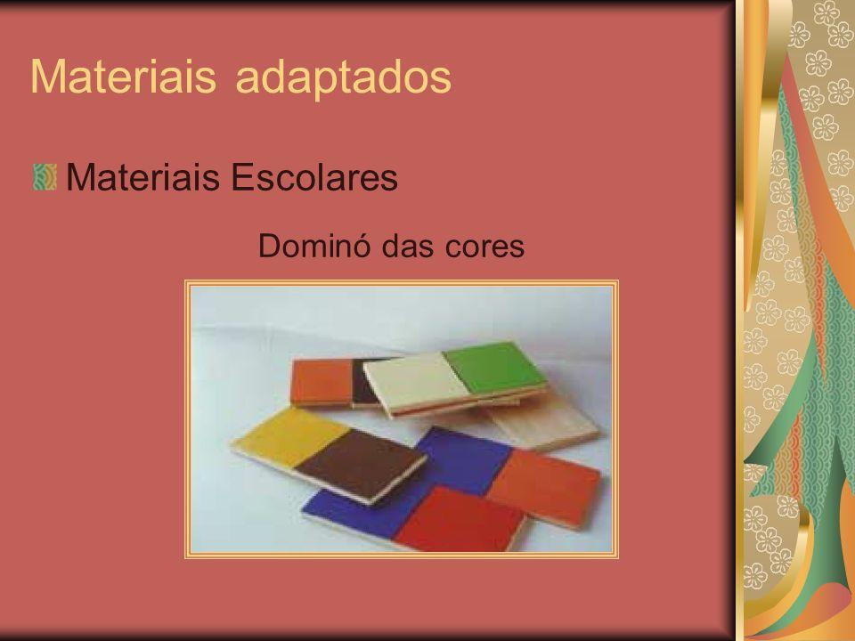Materiais adaptados Materiais Escolares Dominó das cores
