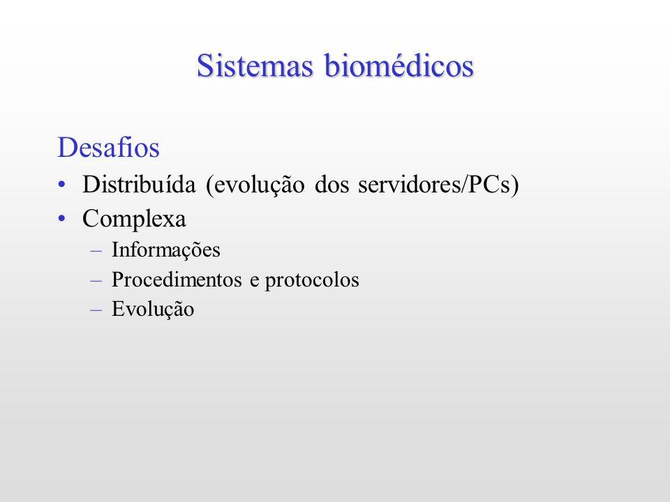 Sistemas biomédicos Desafios Distribuída (evolução dos servidores/PCs)