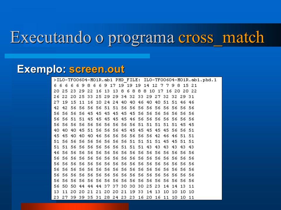 Executando o programa cross_match