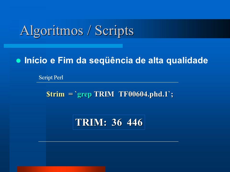 Algoritmos / Scripts TRIM: 36 446