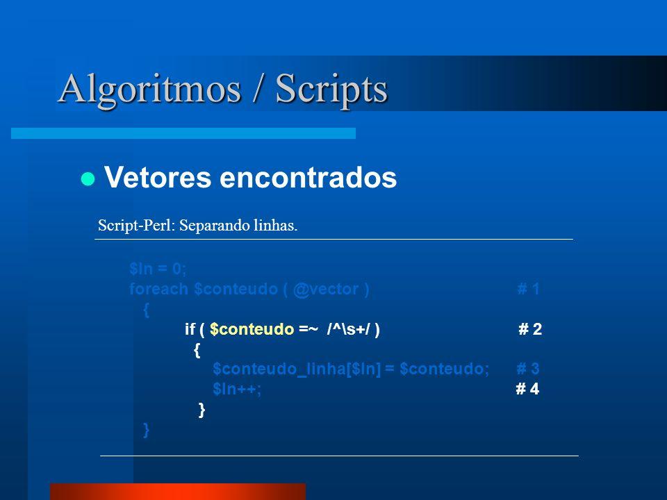 Algoritmos / Scripts Vetores encontrados