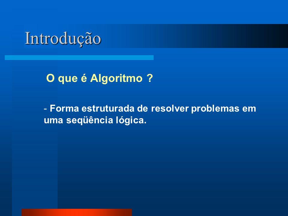 Introdução O que é Algoritmo