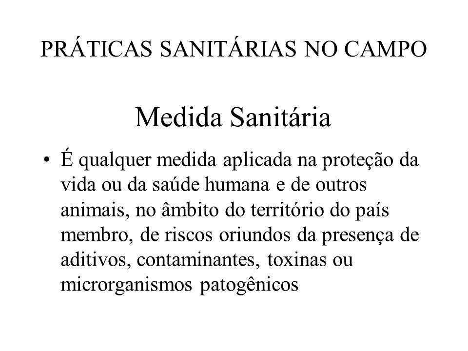 PRÁTICAS SANITÁRIAS NO CAMPO