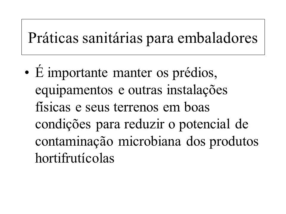 Práticas sanitárias para embaladores