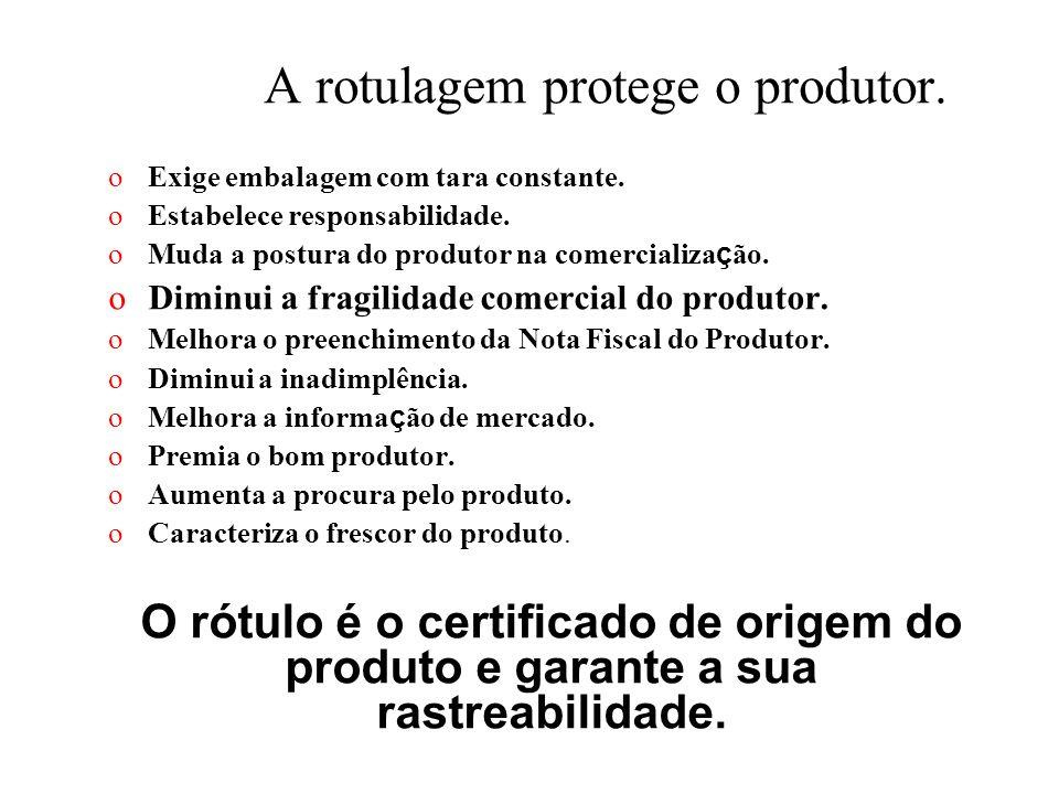 A rotulagem protege o produtor.