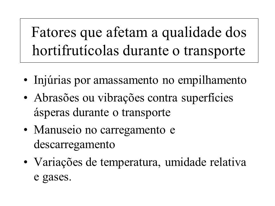 Fatores que afetam a qualidade dos hortifrutícolas durante o transporte