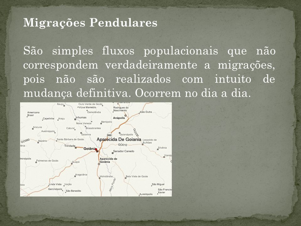 Migrações Pendulares