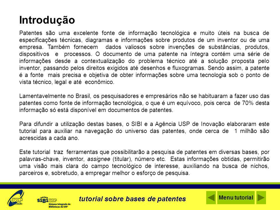 Introdução tutorial sobre bases de patentes