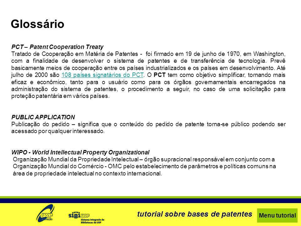 Glossário tutorial sobre bases de patentes