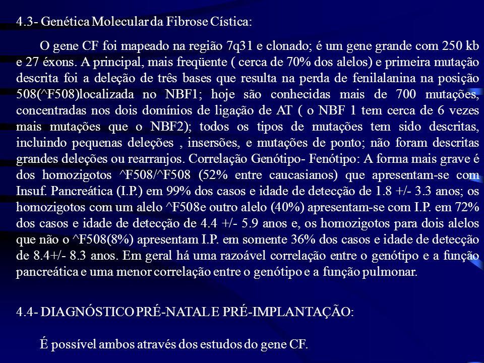 4.3- Genética Molecular da Fibrose Cística: