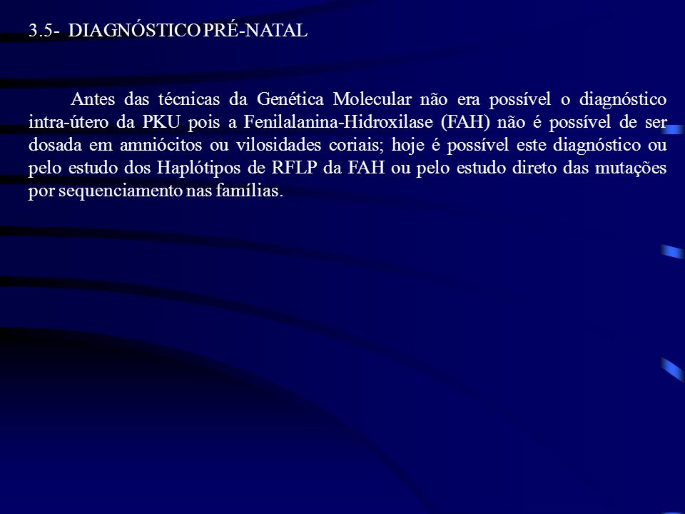 3.5- DIAGNÓSTICO PRÉ-NATAL