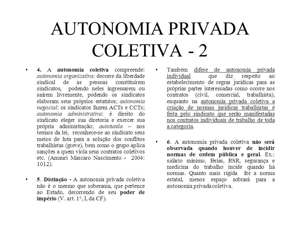 AUTONOMIA PRIVADA COLETIVA - 2