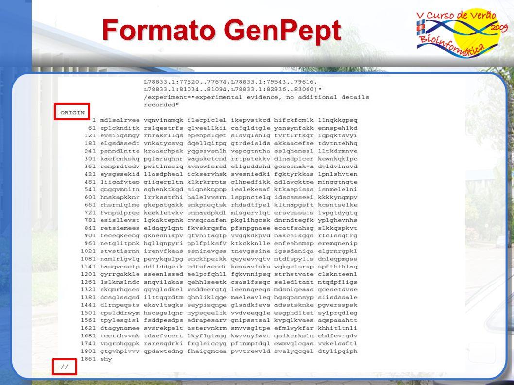 Formato GenPept 10