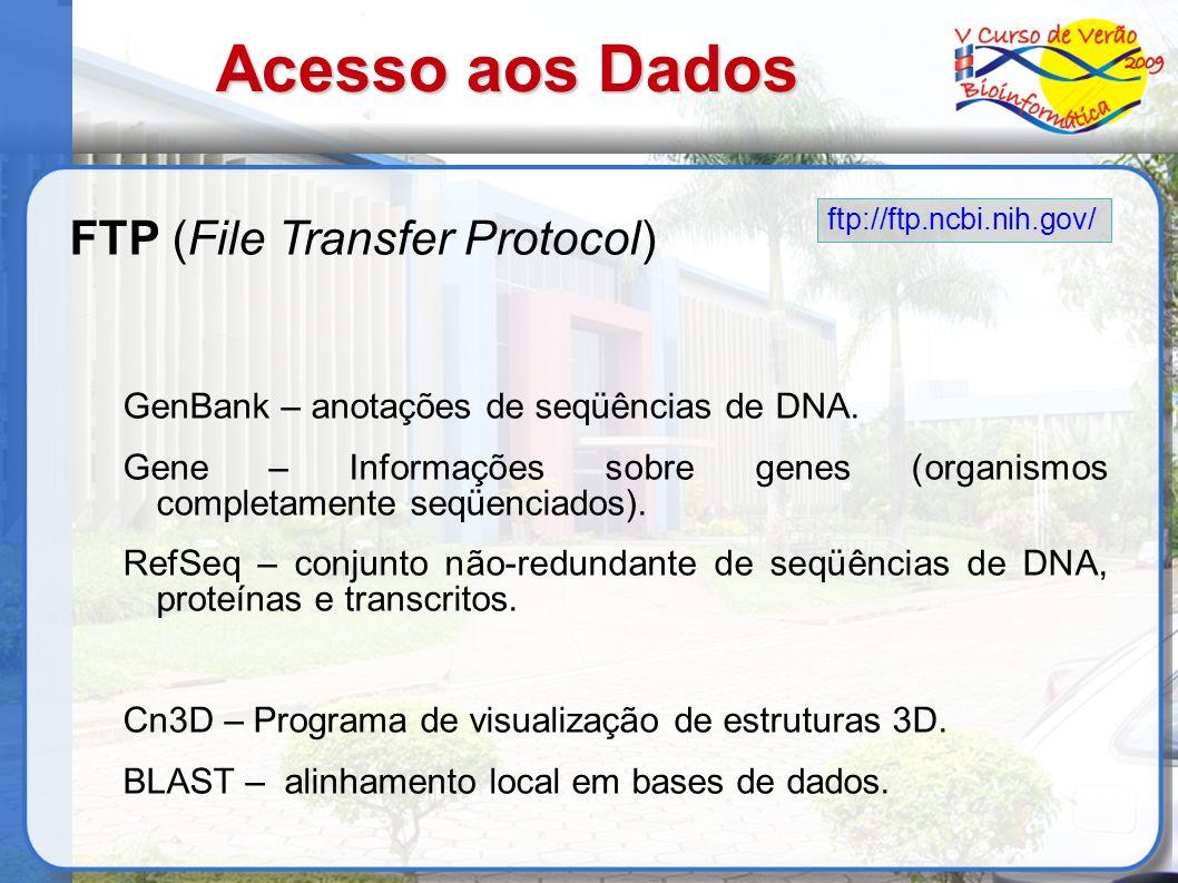 Acesso aos Dados FTP (File Transfer Protocol)
